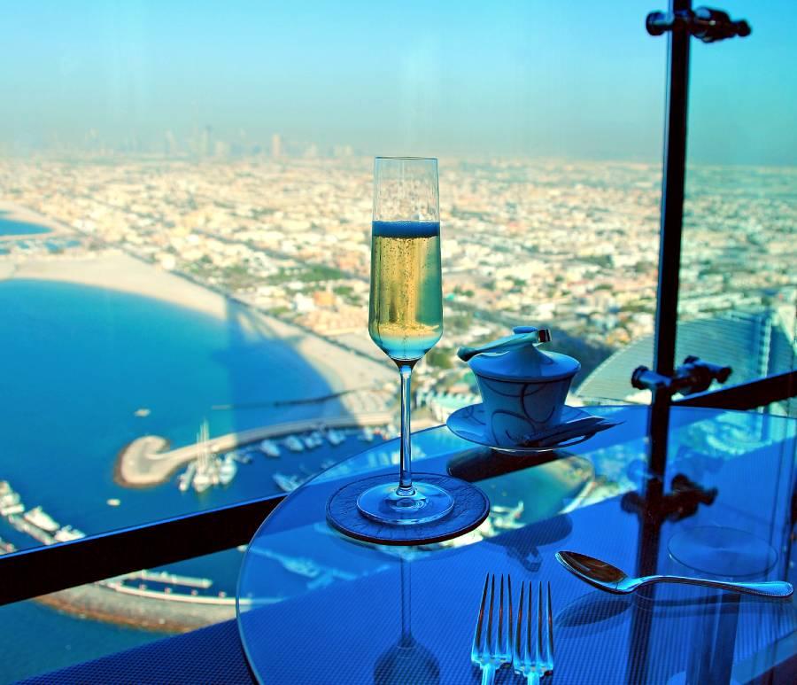 Burj Al Arab High Tea Bar Champagne