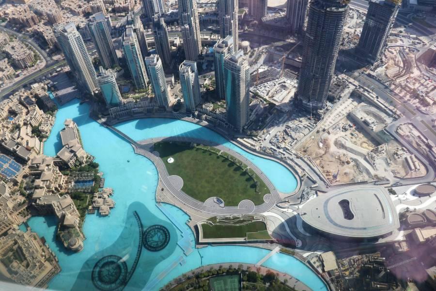 Burj Khalifa Dubai View At Top