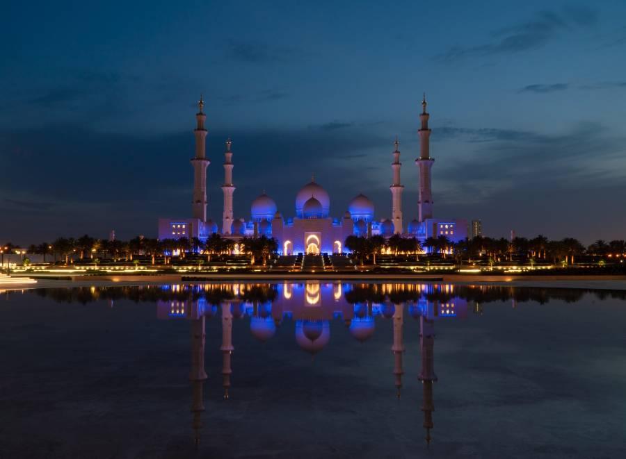 Abu Dhabi Mosque Sheikh Zayed Grand Mosque by Night