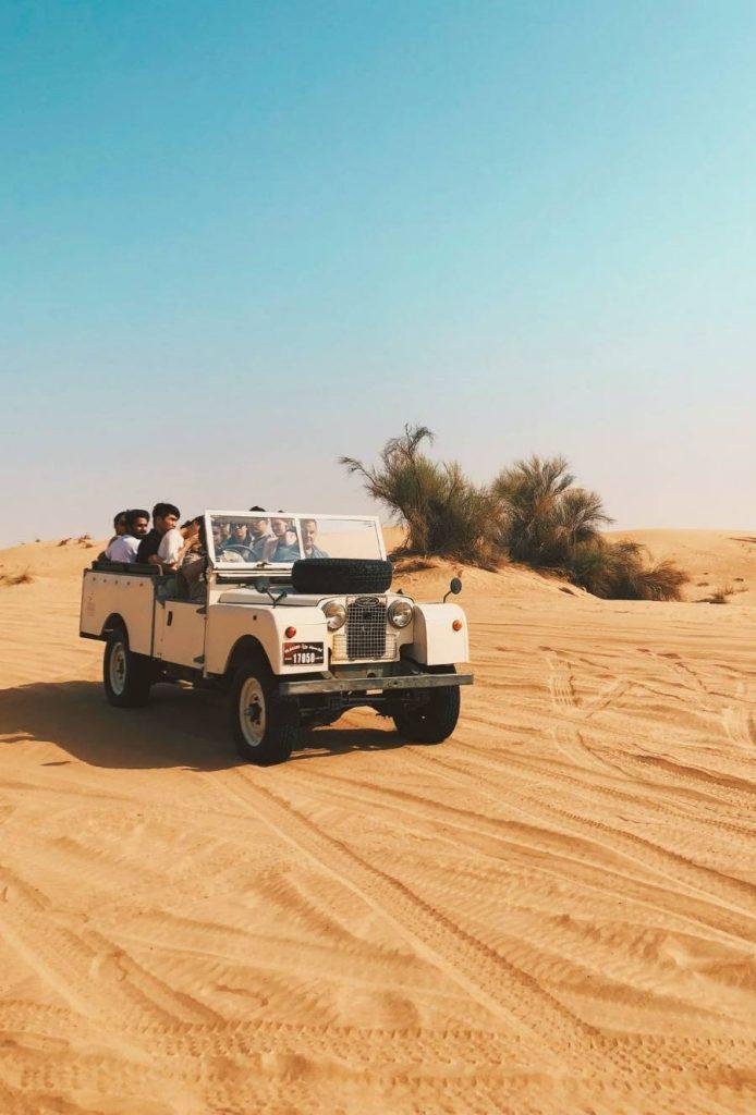 Dubai Desert Old Land Rover Vintage Tour