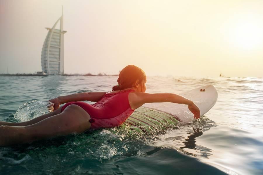Beaches in Dubai Kitebeach Jumeirah Burj Al Arab
